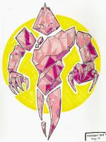 Inktober2018 16th Day - Kravitz the Crystal Golem by Trisidael