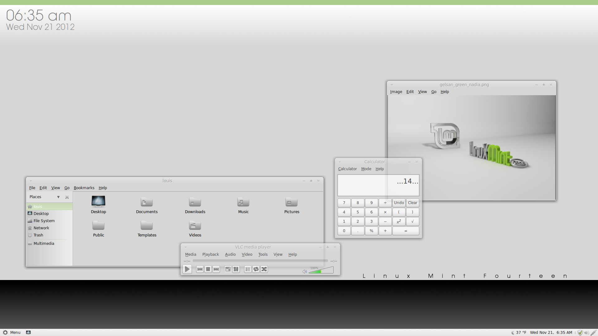 Linux Mint 14 by pissnaround