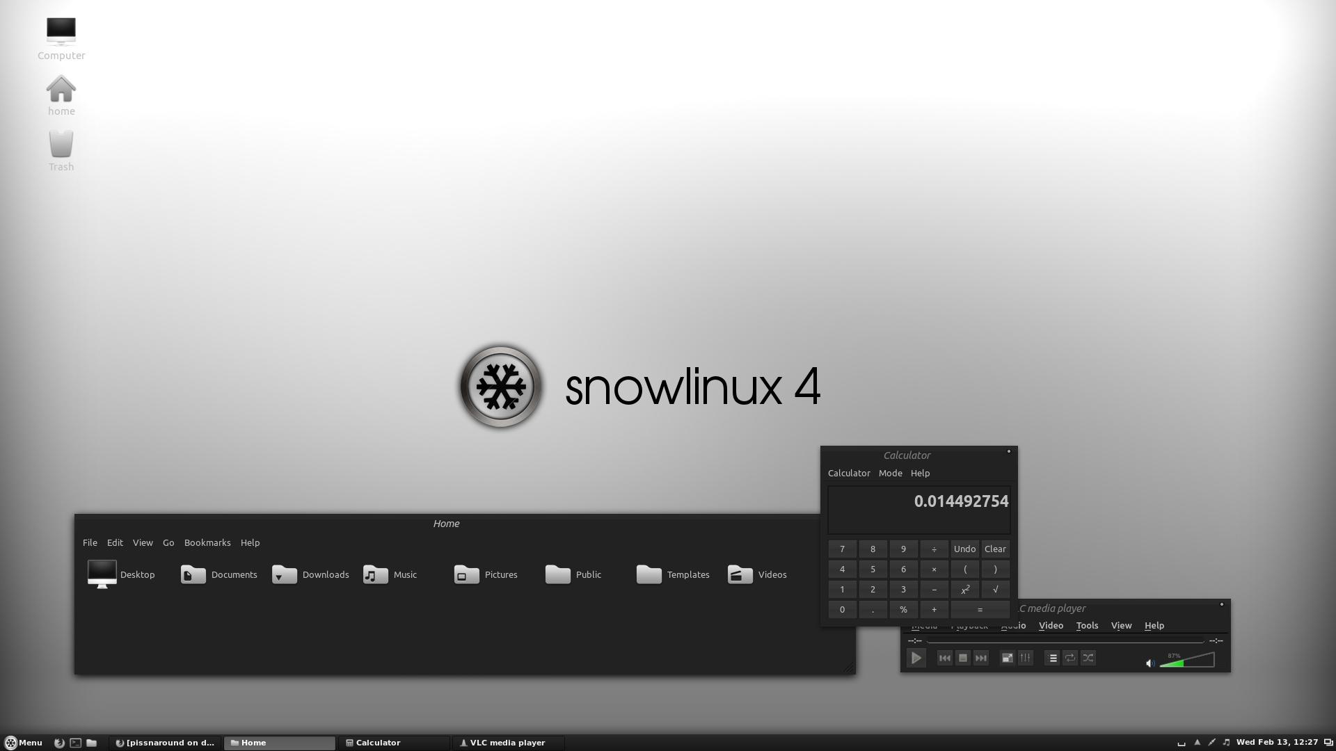 Snowlinux 4 Cinnamon Dark by pissnaround