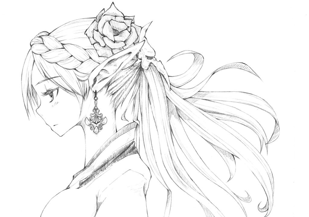 Elf maiden by sitouanang on deviantart - Manga coloriage elfe ...