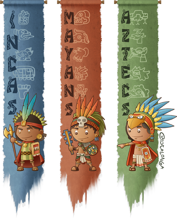 Incas, Mayans and Aztecs by Costalonga