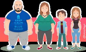 Character Design - Nerd Family by Costalonga