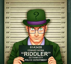 Gotham City Mugshots - Riddler by Costalonga