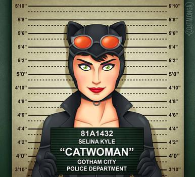 Gotham City Mugshots - Catwoman by Costalonga