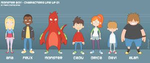 Monster Boy - Characters Line Up 01