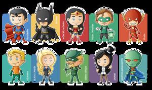 Justice League Minigeeks by Costalonga