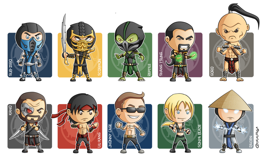 how to draw mortal kombat characters chibi