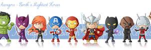 The Avengers  MiniGeeks by Costalonga