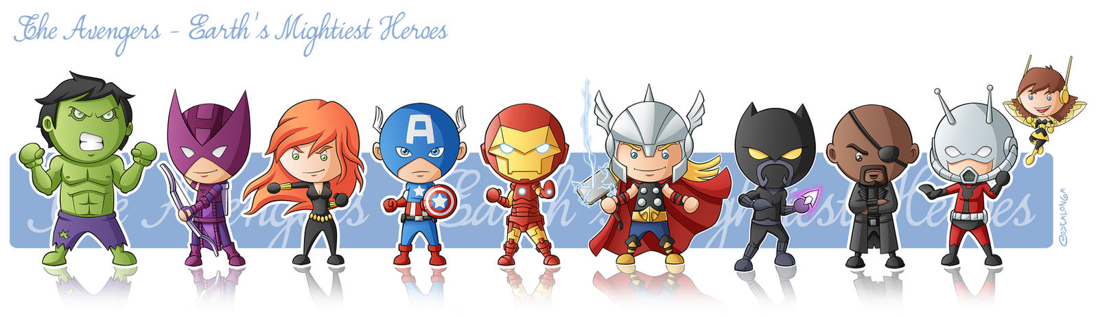 The Avengers  MiniGeeks by Costalonga