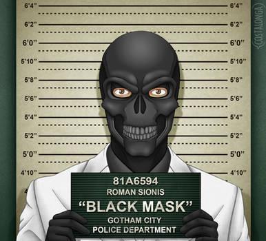 Gotham City Mugshots - Black Mask by Costalonga