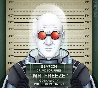 Gotham City Mugshots - Mr. Freeze by Costalonga