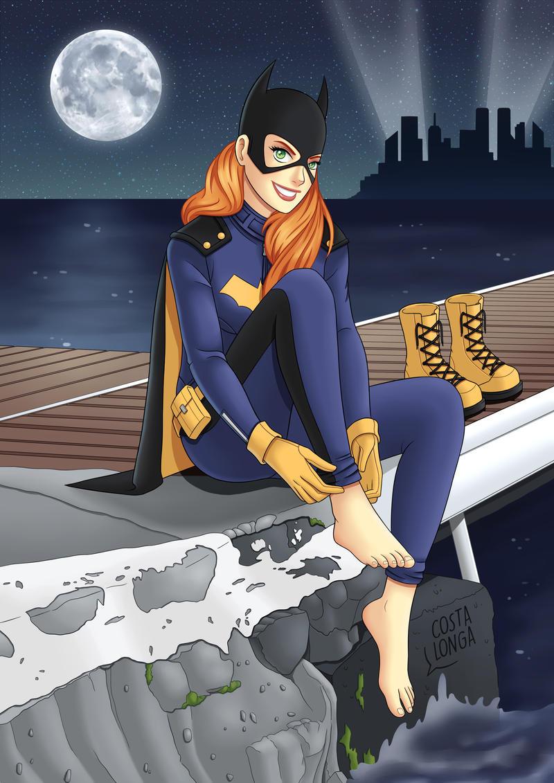 Batgirl footjob