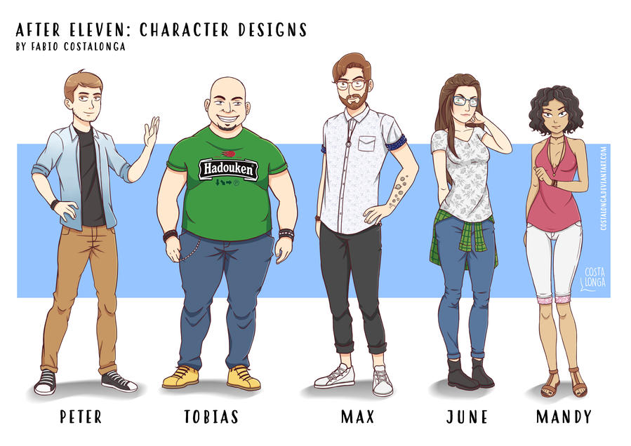 After Eleven: Character Designs by Costalonga