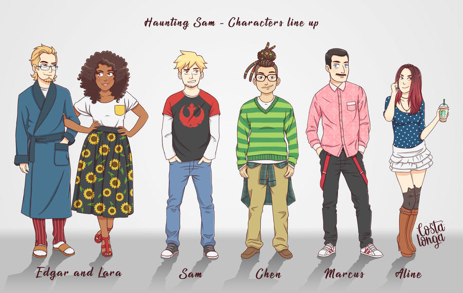 Haunting Sam - Character Line Up by Costalonga