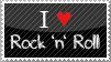 I love Rock 'n' Roll Stamp by 4-Mii
