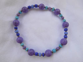 Purple and turquoise - bracelet