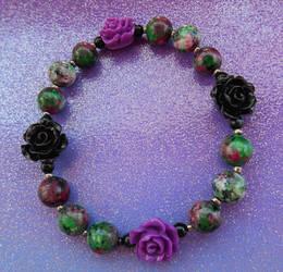 Gothic Rose Garden - bracelet
