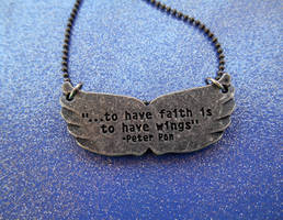 Peter Pan plaque necklace