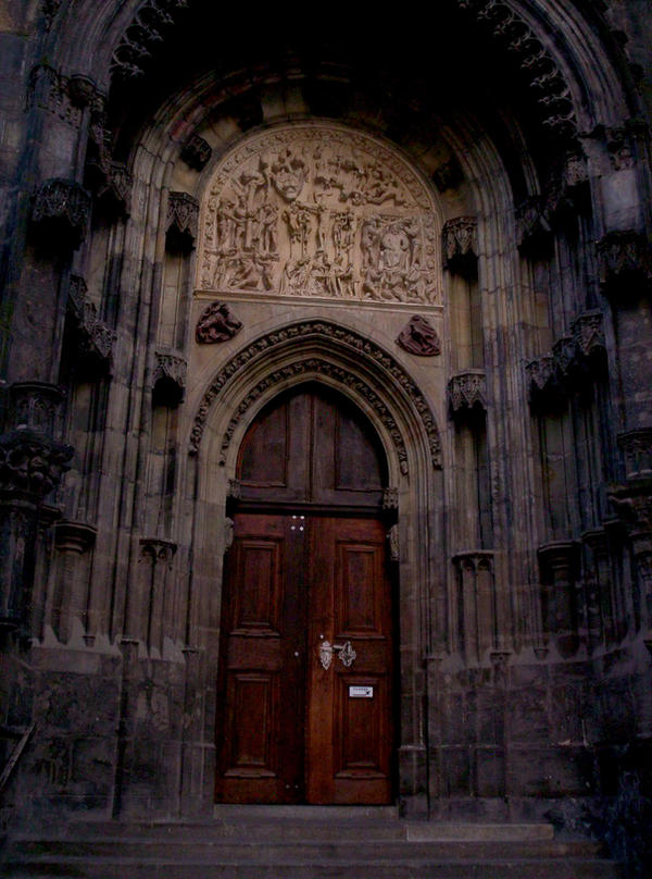 Gothic Doorway By Rainbow In The Dark
