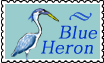 Blue Heron Stamp by altergromit