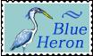 Blue Heron Stamp by altergromit