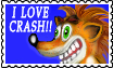Crash Bandicoot Stamp by altergromit