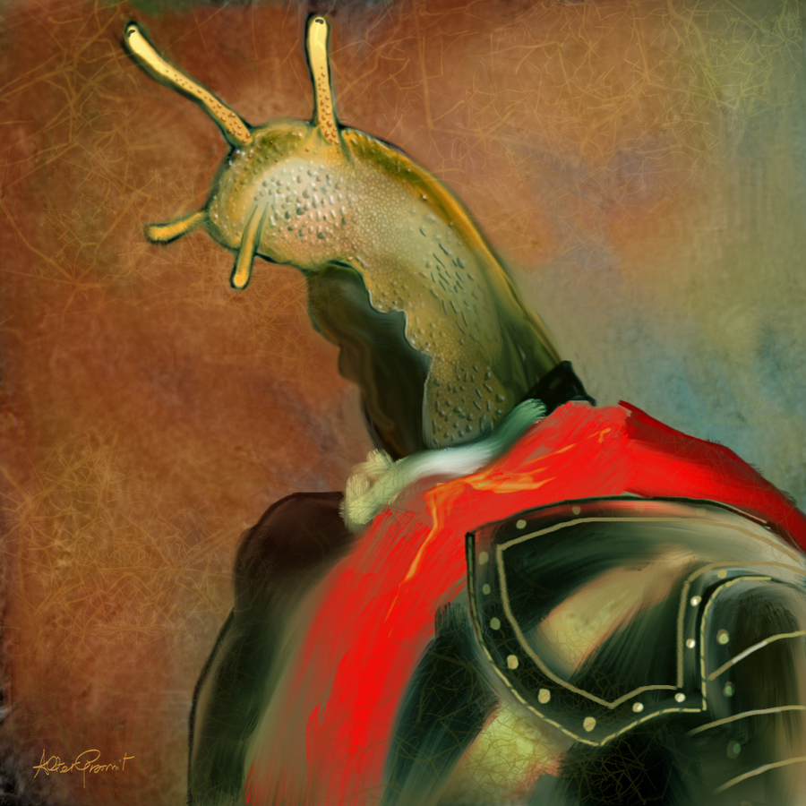 Portrait of a snail in armor by altergromit