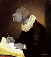 Dog, the scholar by altergromit