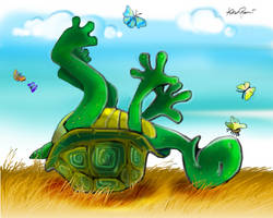 Happy Tortoise by altergromit