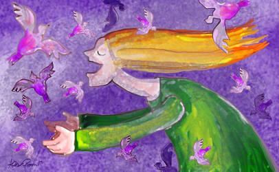A Purple Flight by altergromit
