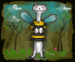 A Bumbleweasel by altergromit