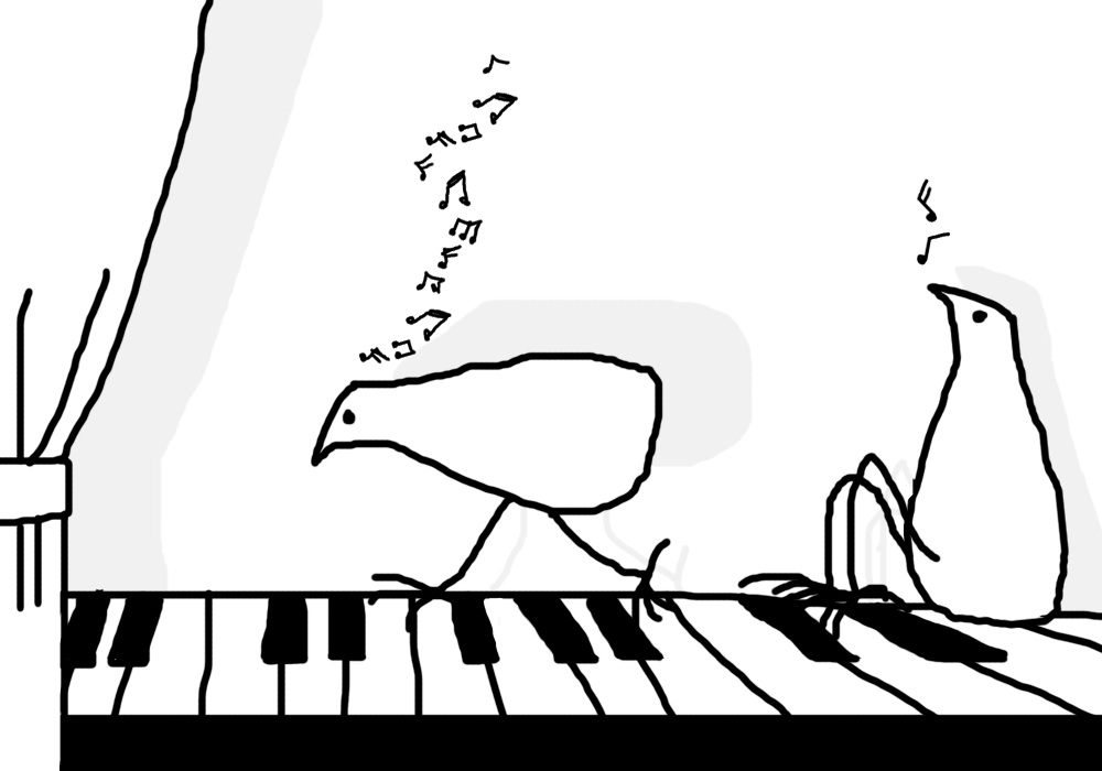 Music on piano by altergromit
