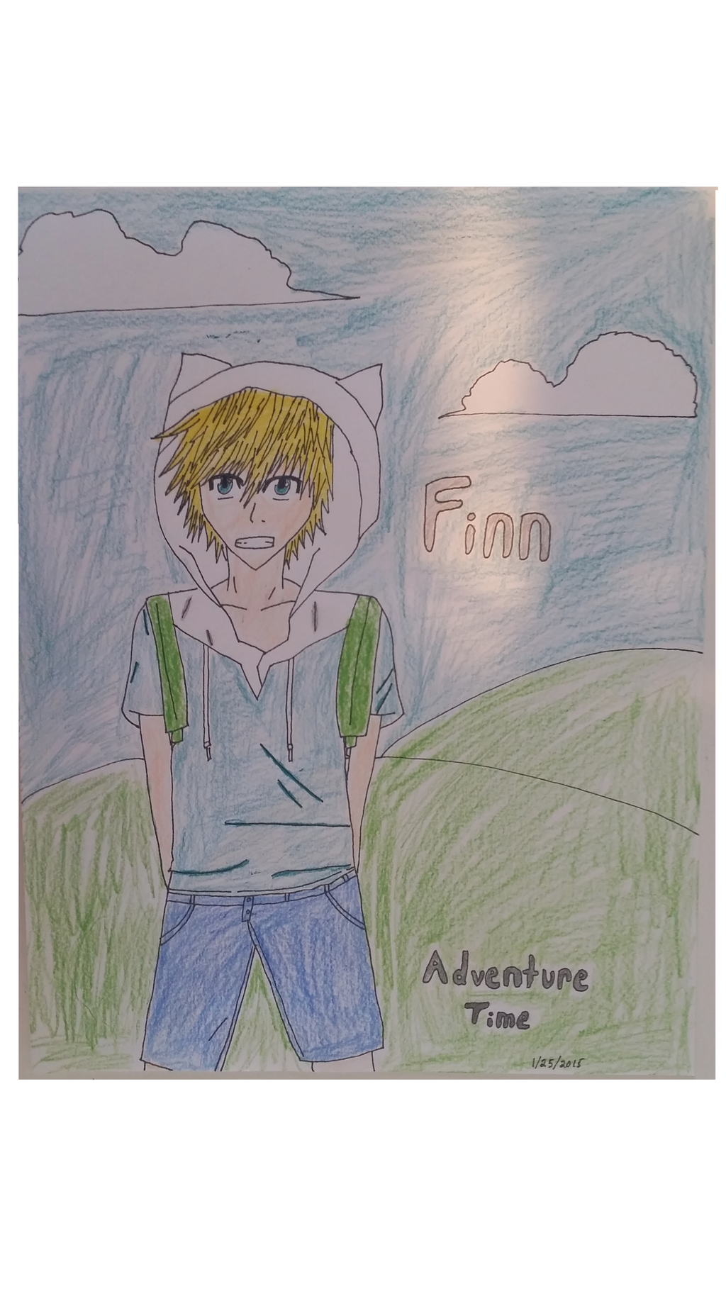 Adventure Time Finn Anime Drawing By Martianhunter On Deviantart
