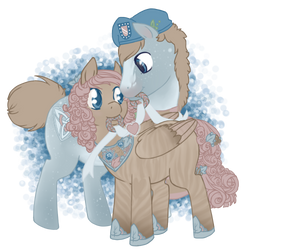 Wedding Band Set by thirteenponies
