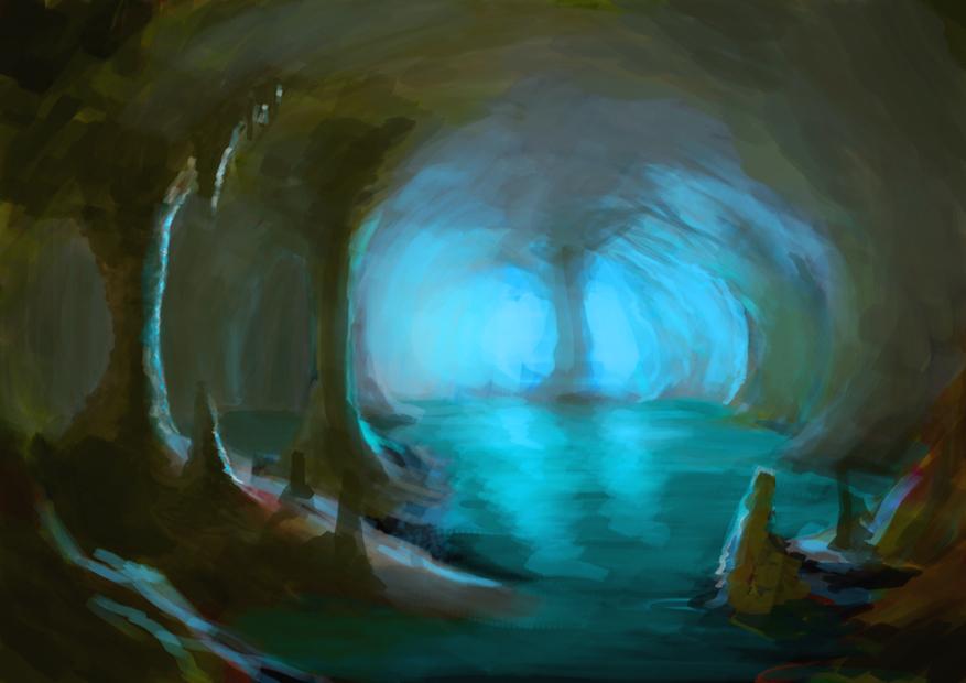 Cave sketch by BEN-BEN-BEN