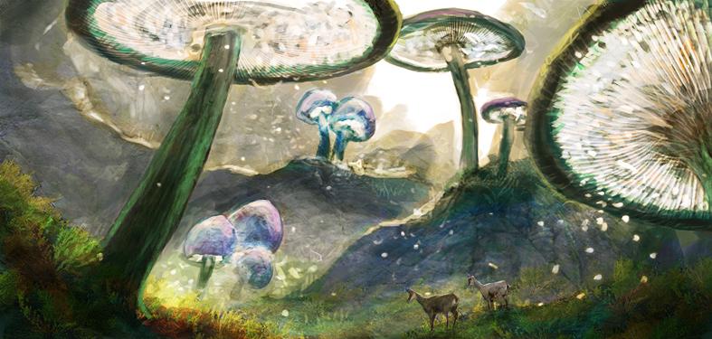 Mushroom Trees by BEN-BEN-BEN
