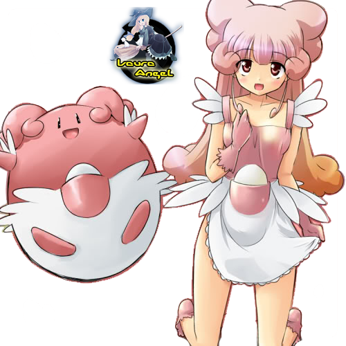 Render Blissey Gijinka by GrayAngel15