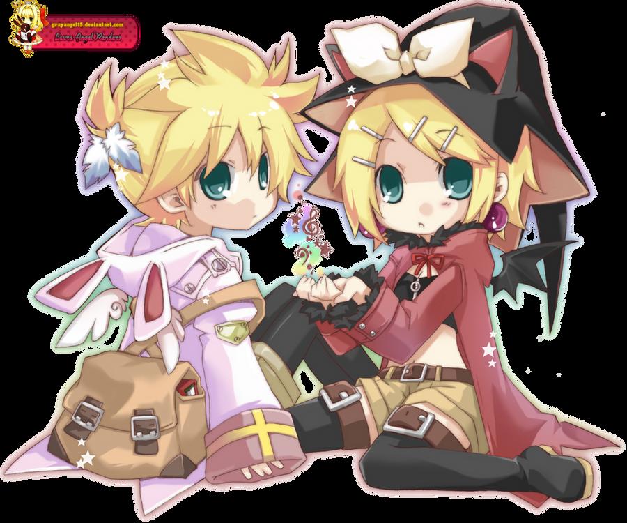 Render Kagamine Rin y Len by GrayAngel15