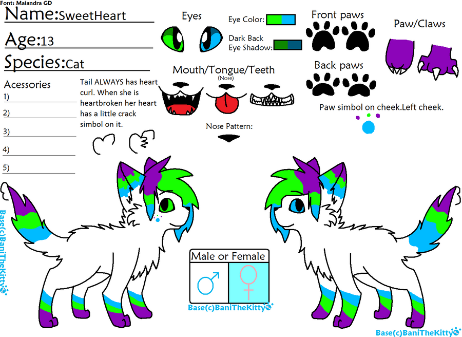 SweetHeart Reference Sheet by Rainbow-Aki