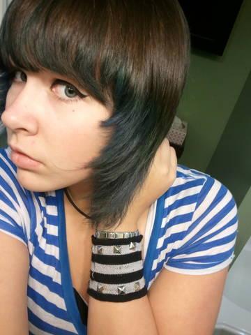 My blue hair XD by bvbaddict