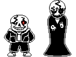UnderDestroyd Sans and Gaster Sprites by FunnystufBurrito