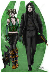 Dark Baghera and Walter the Paradoxe by gatesway
