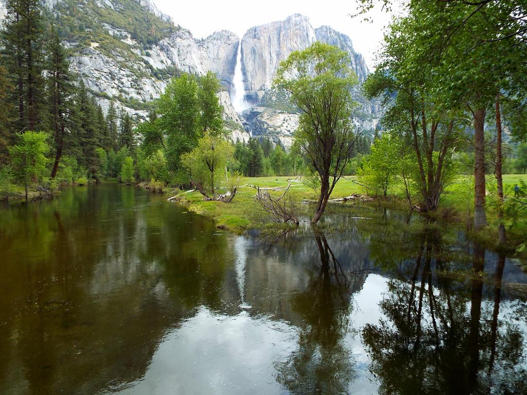 Yosemite Waterfall Reflections by Kynalex