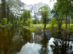 Yosemite Waterfall Reflections