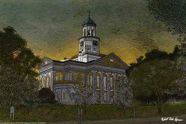 Old Warren County Courthose Vicksburg MS era: 1858 by rdhyman