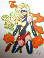 ms. marvel sketch by JamieFayX