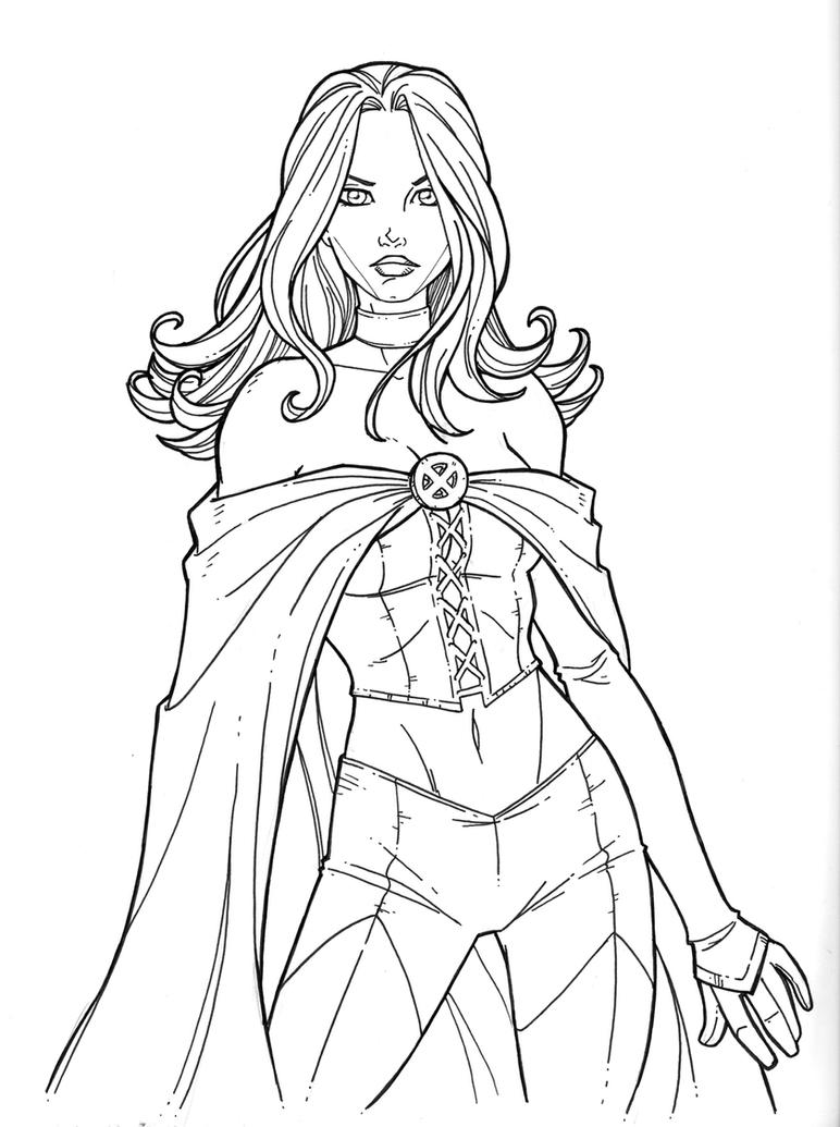 emma frost's new uniform by JamieFayX