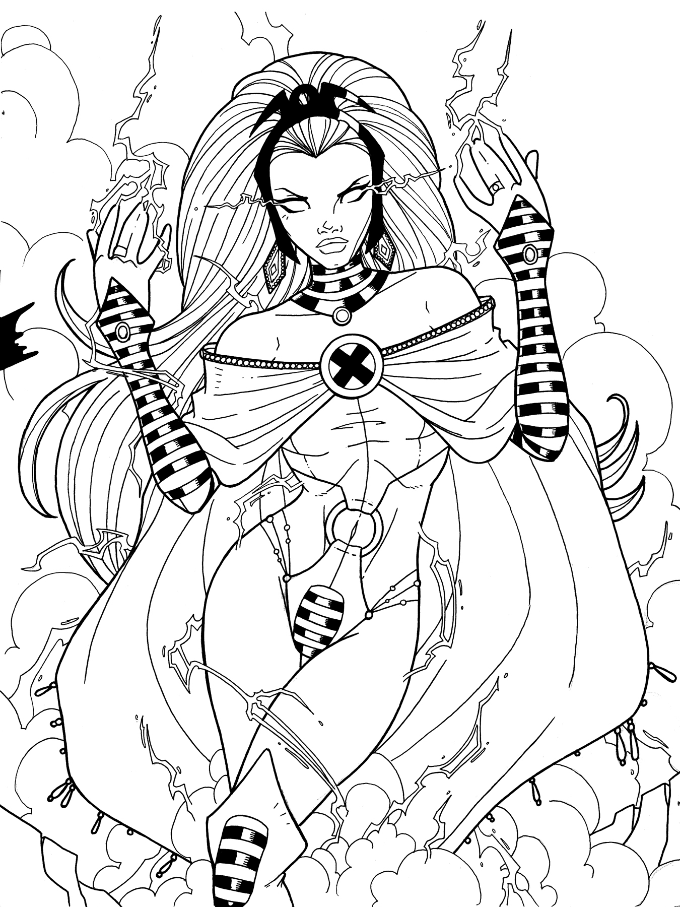 Storm x men strikeforce by jamiefayx on deviantart for X men coloring pages