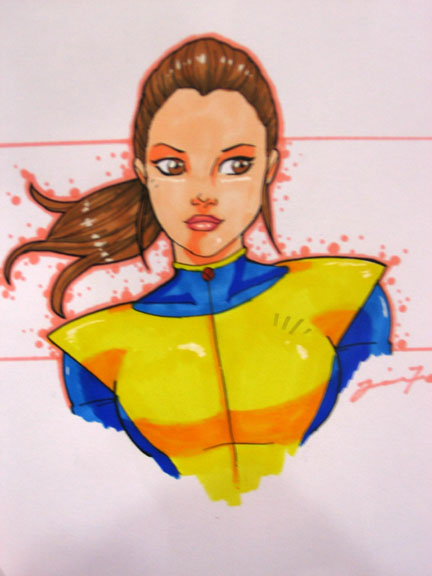 kitty pryde sketch by JamieFayX