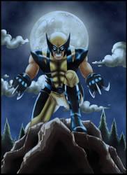 Wolverine at night by JamieFayX